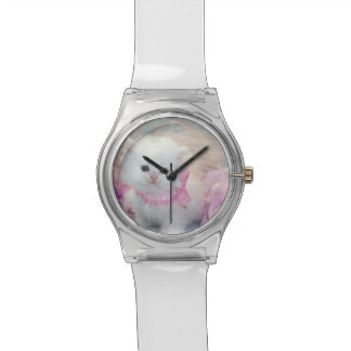 腕時計の白の子ネコ 腕時計