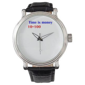 腕時計はですお金時間を計ります 腕時計