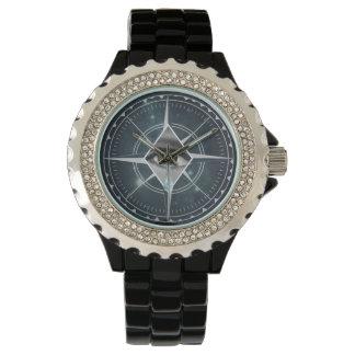 腕時計4ポイントのコンパスの 腕時計