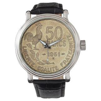 腕時計50フランの1951年の金貨の 腕時計