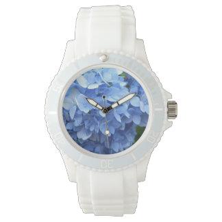 腕時計-スポーティな-青いアジサイ 腕時計