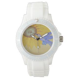 """腕時計- """"ハチドリ及びヒマワリ"""" 腕時計"""