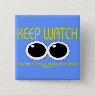 腕時計-マットの24:42 --を保って下さい 缶バッジ
