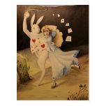 腕時計-手のスケッチを持つアリス及びウサギ