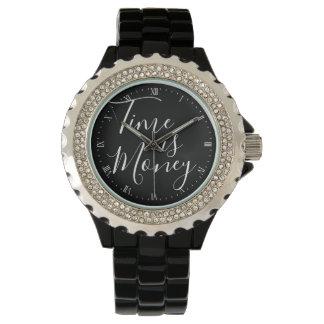 腕時計-時間はお金の黒です 腕時計