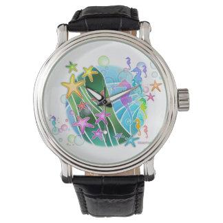 腕時計-海のテーマの海の芸術 腕時計