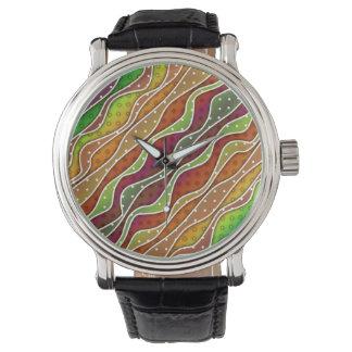 腕時計-秋ストライプなパターンデザイン 腕時計