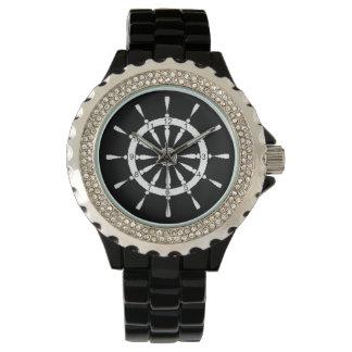 腕時計-船の車輪-白 腕時計