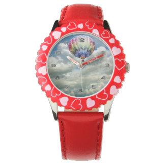 腕時計-虹によって着色される気球 腕時計