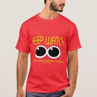 腕時計- Matthewの24:42 --を保って下さい Tシャツ