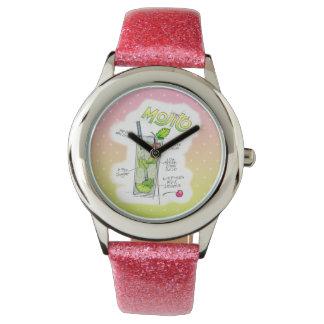 腕時計- MOJITOのレシピのカクテルの芸術 腕時計