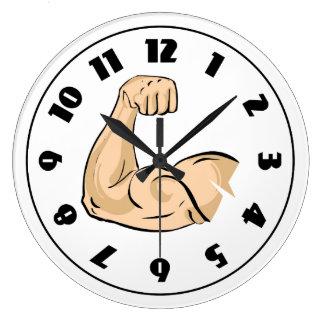 腕筋肉時計 ラージ壁時計