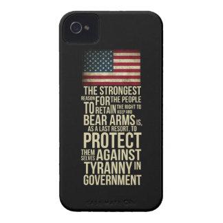腕-トーマス・ジェファーソンの引用文--に耐えること右 Case-Mate iPhone 4 ケース