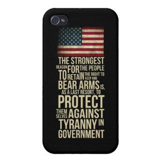腕-トーマス・ジェファーソンの引用文--に耐えること右 iPhone 4/4S ケース