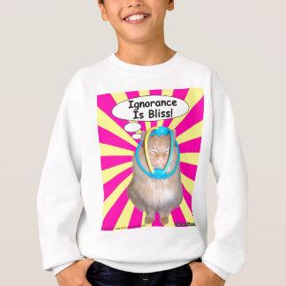 腰回りが大きな子猫の無知は至福です! スウェットシャツ