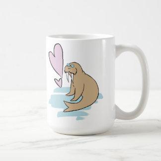 腰回りが大きな愛セイウチ コーヒーマグカップ