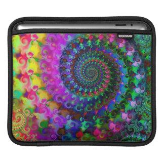 腰回りが大きな虹のフラクタルパターン iPadスリーブ