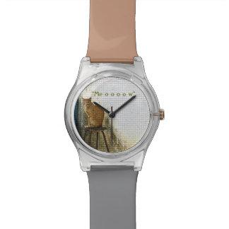"""腰掛けのCATは、""""MEOOOOW""""第28腕時計よろしいです 腕時計"""