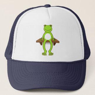 【腰掛けカエル】Sitting frog キャップ
