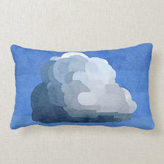 腰神経の枕を絵を描く積雲の水彩画 ランバークッション