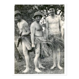 腰蓑のWWIIの兵士 ポストカード