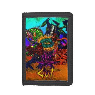 腸の獣のFamの財布 ナイロン三つ折りウォレット