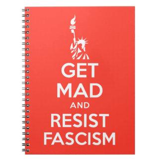腹を立て、ファシズムに抵抗して下さい ノートブック