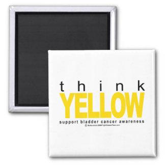 膀胱癌は黄色を考えます マグネット