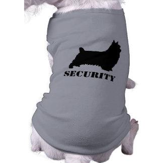 膚触りがよいテリアのシルエットの保証 犬用袖なしタンクトップ