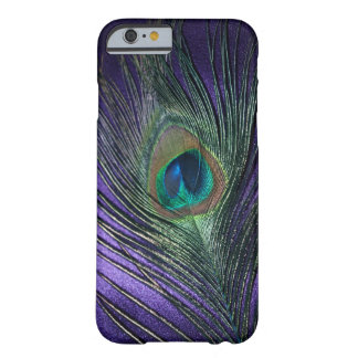 膚触りがよい紫色の孔雀の羽 iPhone 6 ベアリーゼアケース