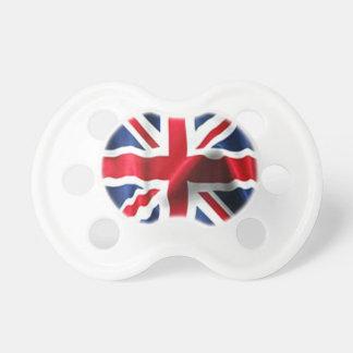 膚触りがよい英国国旗 おしゃぶり