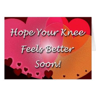 膝の外科は健康なハートをすぐに得ます カード