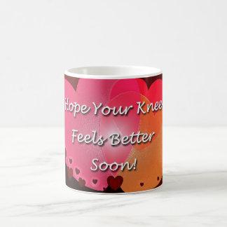 膝の外科は健康なハートをすぐに得ます コーヒーマグカップ