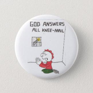 膝郵便=おもしろいな教会ことわざ 5.7CM 丸型バッジ