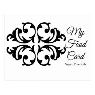 膠灰粘土の計算機カード ポストカード