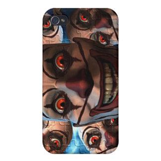 膨張の目を持つ邪悪なピエロ iPhone 4/4S CASE