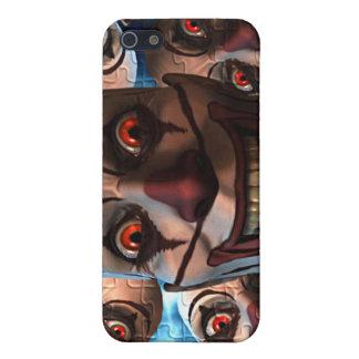 膨張の目を持つ邪悪なピエロ iPhone 5 COVER