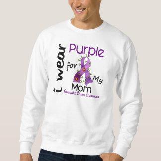 膵臓癌私は私のお母さん43のための紫色を身に着けています スウェットシャツ