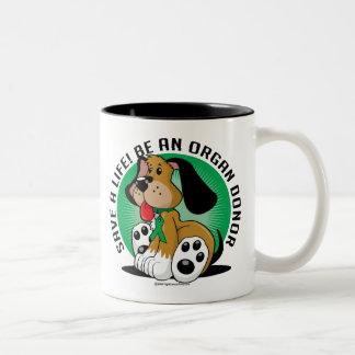 臓器提供者犬 ツートーンマグカップ