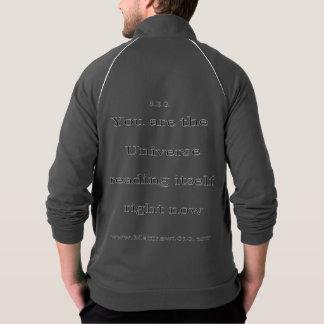 自体オウムのフリースのジッパーの揺れ ジャケット
