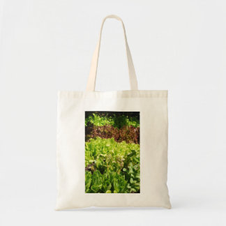 自作のレタスのイメージのケニアの綿のバッグ トートバッグ