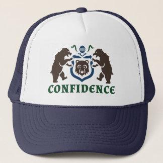 自信くまの紋章 キャップ