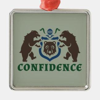 自信くまの紋章 メタルオーナメント