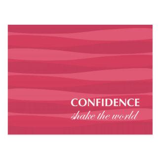 自信のための赤 ポストカード
