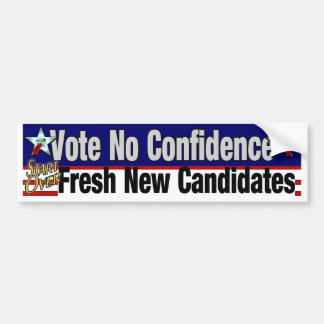 自信を投票しないで下さい バンパーステッカー
