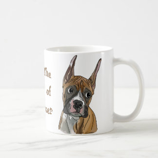 自信満々の赤い子鹿のボクサー犬 コーヒーマグカップ