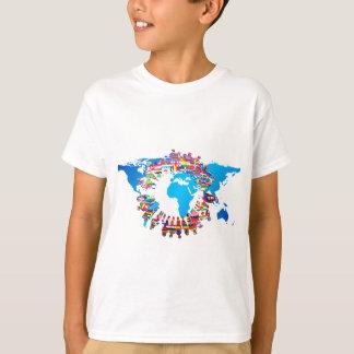 自制心がある人々の旗の円 Tシャツ