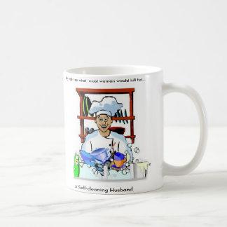 自動クリーニング式夫(メンズマグ) コーヒーマグカップ