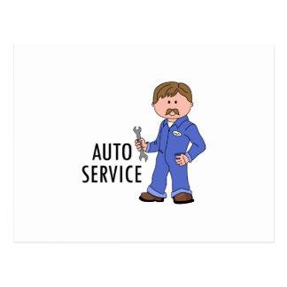 自動サービス ポストカード