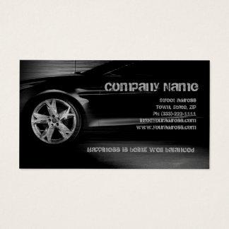 自動タイヤサービス黒の金属の車のなカード 名刺